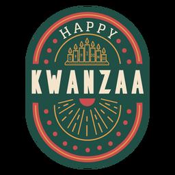 Distintivo de kwanzaa feliz