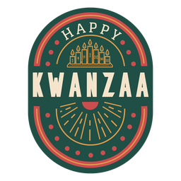 Happy kwanzaa badge