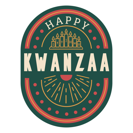 Happy kwanzaa badge Transparent PNG