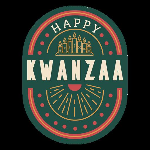 Insignia feliz kwanzaa