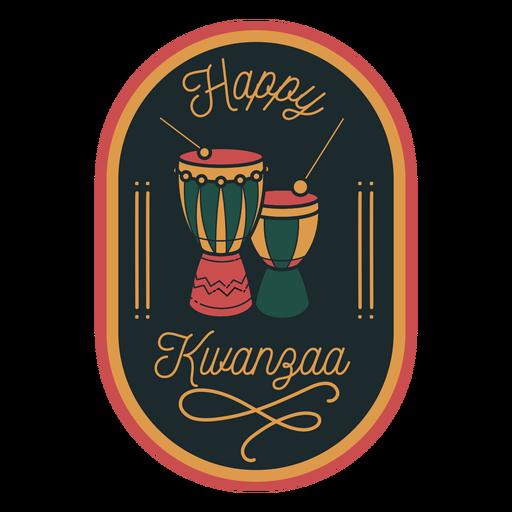 Happy kwanzaa badge tambores
