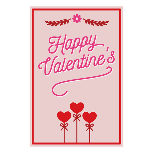 Happy valentines card Transparent PNG