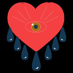 Coração chorando olhos românticos