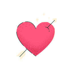 Heart shot by arrow