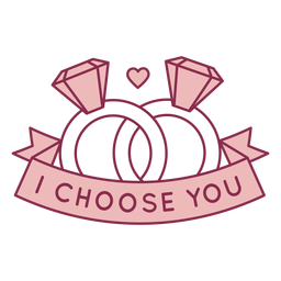 I choose you badge