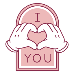 I heart you badge