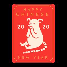 Rato alegre ano novo chinês