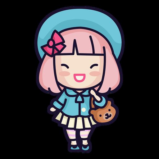 Kawaii japanese girl Transparent PNG