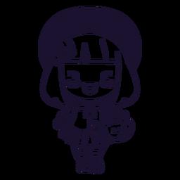 Curso de menina japonesa kawaii