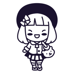 Kawaii niña japonesa trazo