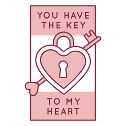 Key to heart badge