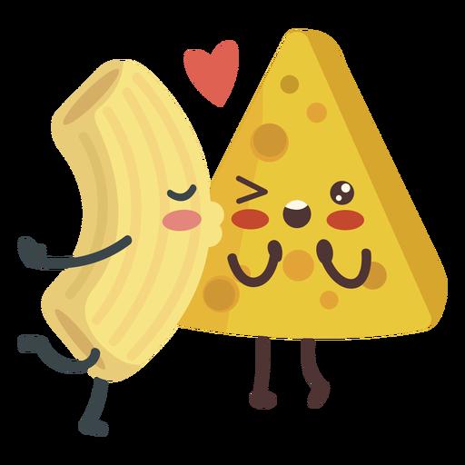 Kissing mac cheese love