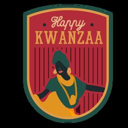 Insignia de Kwanzaa feliz