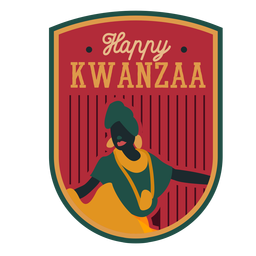 Kwanzaa badge happy