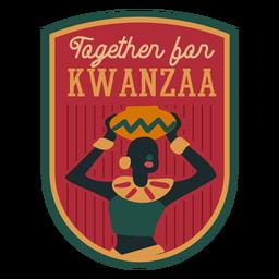 Crachá Kwanzaa junto