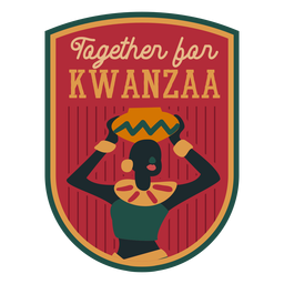 Kwanzaa badge together