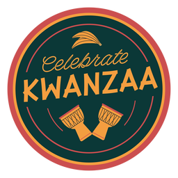 Kwanzaa celebrate badge