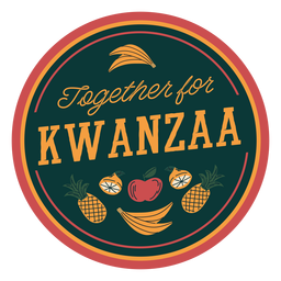 Kwanzaa together badge