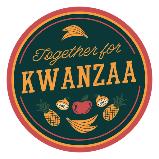 Insignia de Kwanzaa juntos Transparent PNG
