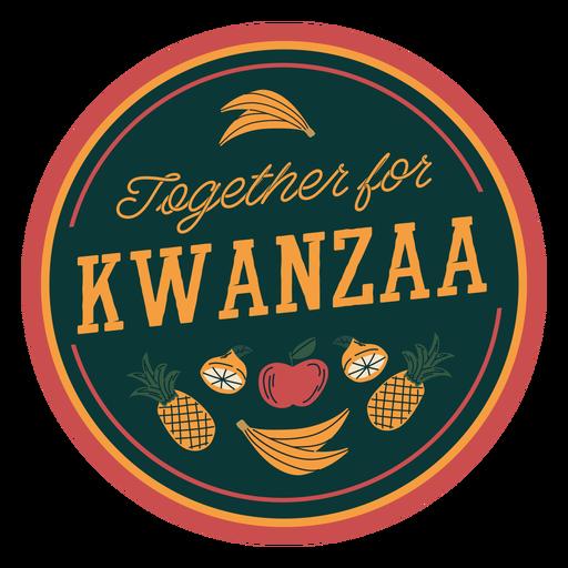 Kwanzaa together badge