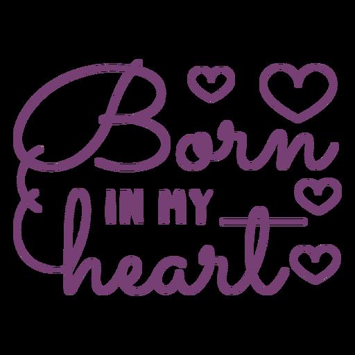 Lettering born heart