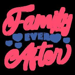 Família de letras para sempre