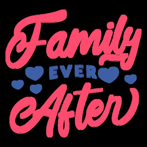 Letras de la familia para siempre