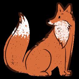 Looking side fox valentine