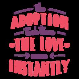 Amor al instante letras de adopción