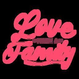 Love make family lettering