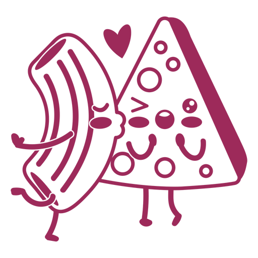 Queso Mac amor trazo Transparent PNG