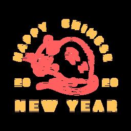 Año nuevo chino comiendo rata