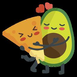 Nacho guacamole pareja