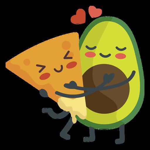 Nacho guacamole couple Transparent PNG