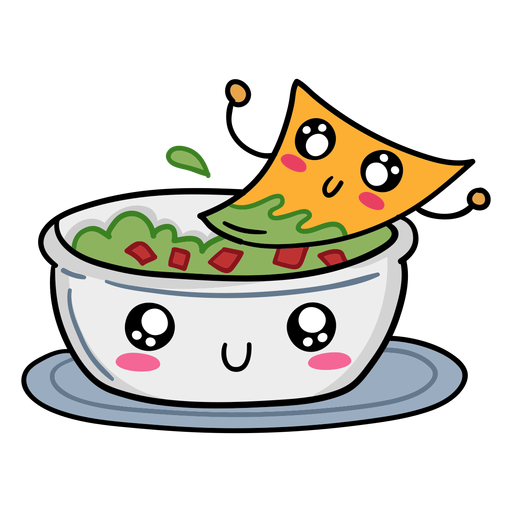Nacho guacamole love Transparent PNG