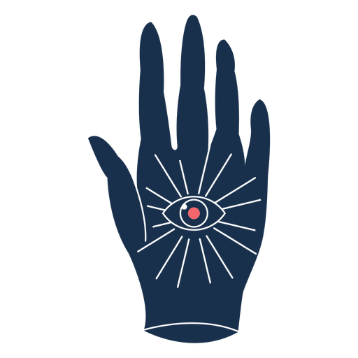 Palm with eye sad Transparent PNG