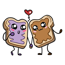 Peanut butter jam sandwich love