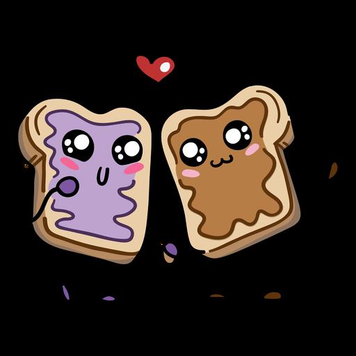 Sándwich de mermelada de mantequilla de maní love