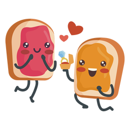 Sandwich de gelatina de mantequilla de maní comprometido