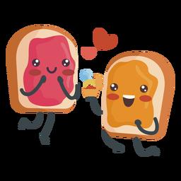 Sándwich de jalea de mantequilla de maní comprometido