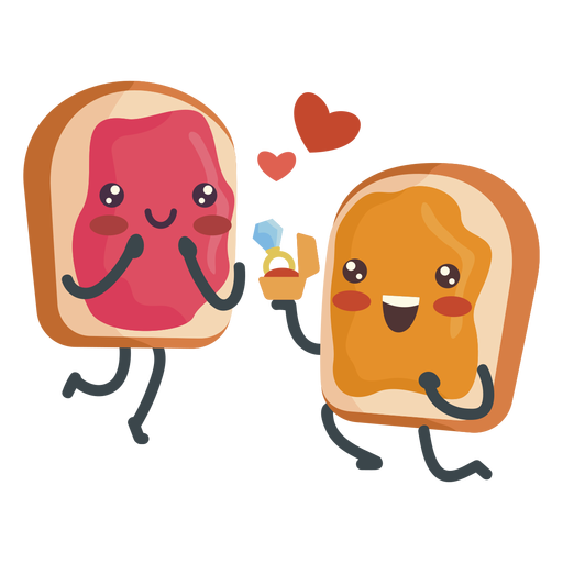 Peanut butter jelly sandwich engaged