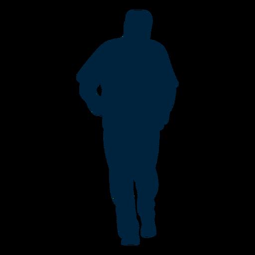 Pose senior man silhouette Transparent PNG