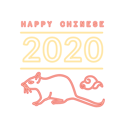 Rat chinese 2020 new year