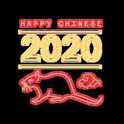 Ratte Chinesisch 2020 neues Jahr
