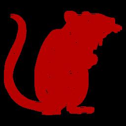 Rato olhando lado ano novo chinês