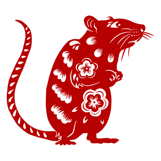 Rata mirando lado año nuevo chino