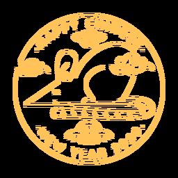 Año nuevo chino vista lateral rata