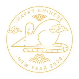 Ratte Seitenansicht chinesisches Neujahr