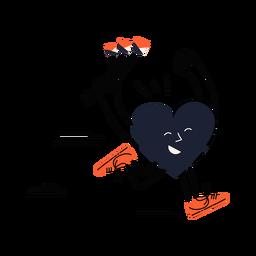 Running heart happy