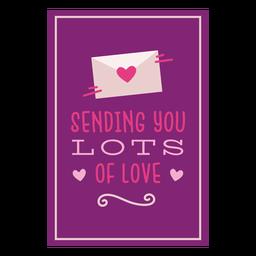 Enviando muitos cartões de amor